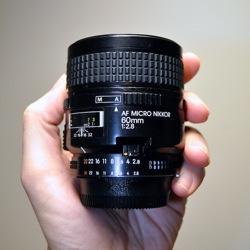 Nikon AF Micro Nikkor 60mm f:2.8 Lens