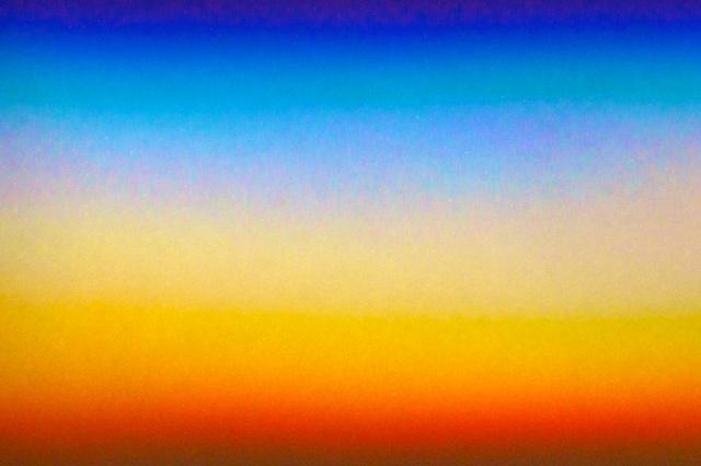 Rainbow spectrum on wall