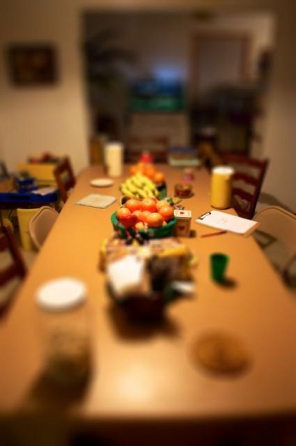 Table Clutter Tiltshift