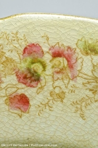 Grandma Plank Plate floral Detail