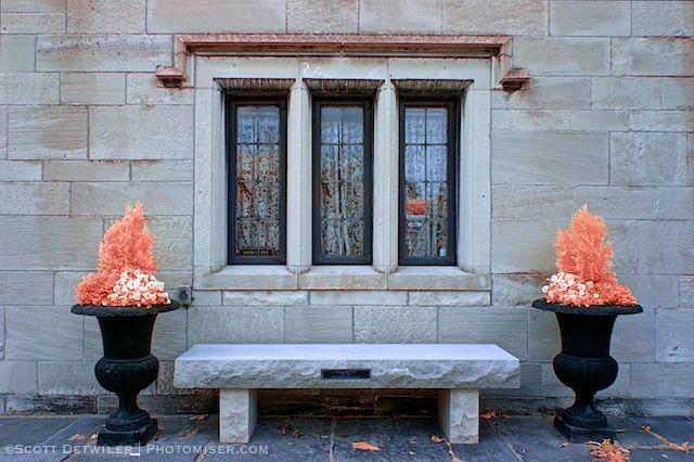 Hartwood Mansion Fire Pots false color infrared