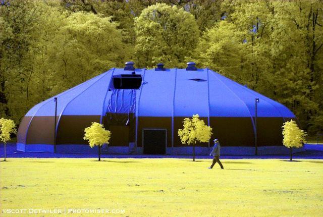Hartwood Mansion Dome, false color infrared