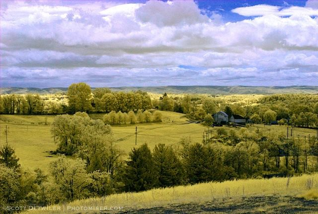 Hillman Park View in false color IR Hillman Park View, false color infrared