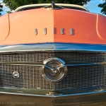 Peach Buick Roadmaster grill