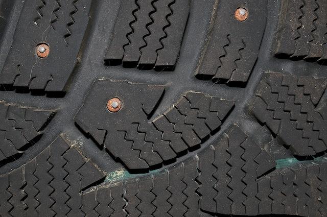 Studded Snow Tire Tread