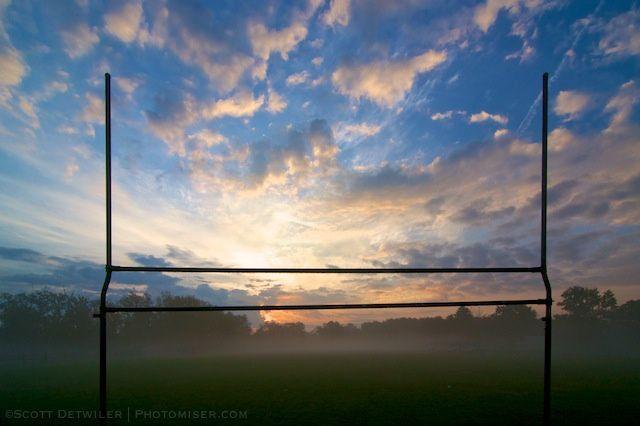 Sunrise on the practice field