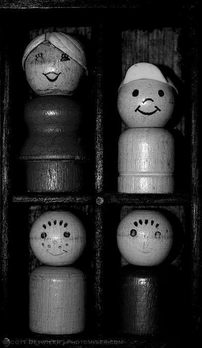 Fisher Price People in BW