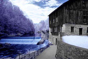 McConnell's Mill in false color infrared